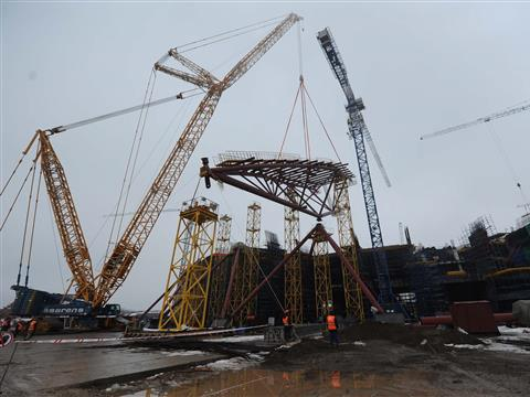 "На стадионе ""Самара-Арена"" начался монтаж купола"