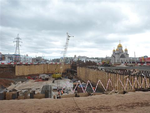 Забетонирована первая секция основания тоннеля под кольцом Московское шоссе / пр. Кирова