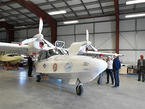 """Напредприятии """"АэроВолга"""" началось серийное производство сверхлегкого самолета-амфибии """"Borey"""""""