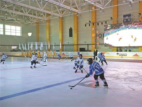 Новокуйбышевцы получили вподарок отРоснефти Ледовый дворец