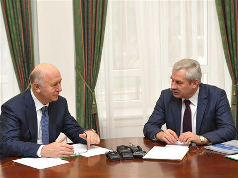 Николай Меркушкин встретился с министром энергетики Республики Беларусь Владимиром Потупчиком