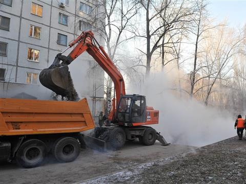 В Самаре более 150 домов остались без тепла из-за аварии на тепломагистрали (видео)