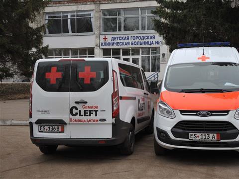 Немецкие благотворители подарили самарской городской детской больнице №1 новые машины