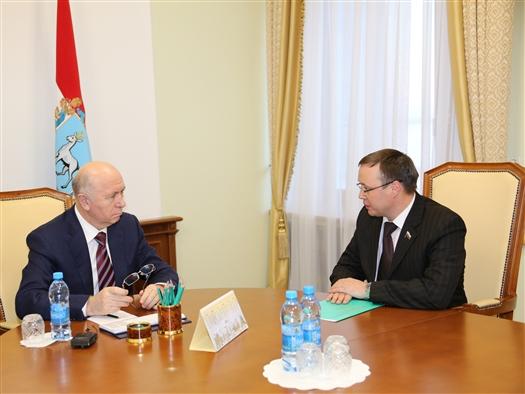 Николай Меркушкин провел рабочую встречу с Дмитрием Микелем