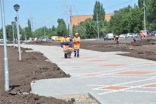 Реконструкция ул. Ташкентской выполнена на 70%