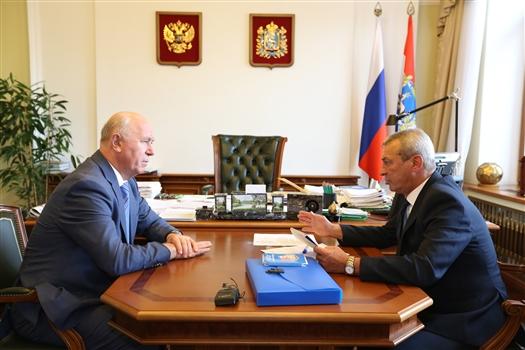 Николай Меркушкин провел рабочую встречу с руководителем реготделения ДОСААФ России