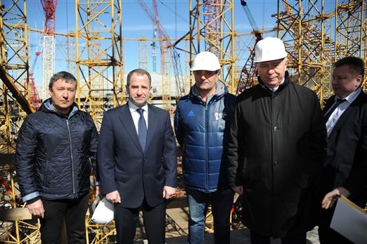 "Михаил Бабич посетил строящийся стадион ""Самара Арена"""