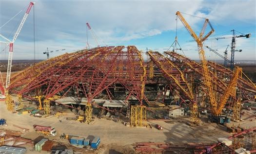 """Металлоконструкции стадиона """"Самара Арена"""" будут монтировать в два потока"""