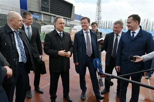 Виталий Мутко в Тольятти посетил тренировочную базу сборной Швейцарии по футболу