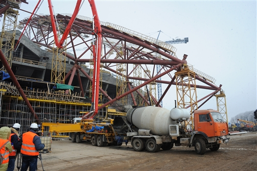 "До конца марта откроют четвертый поток монтажа металлоконструкции стадиона ""Самара Арена"""