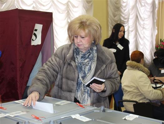 Ольга Гальцова проголосовала в СГСПУ