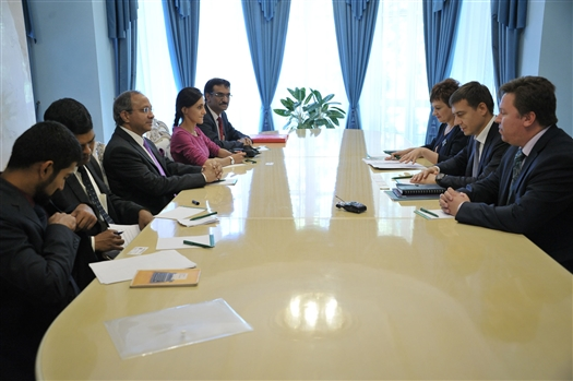 Александр Кобенко провел рабочую встречу с послом Индии в России