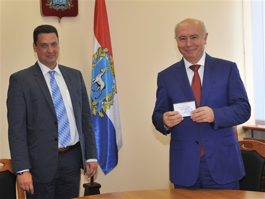 Николай Меркушкин зарегистрирован в качестве кандидата на пост губернатора Самарской области