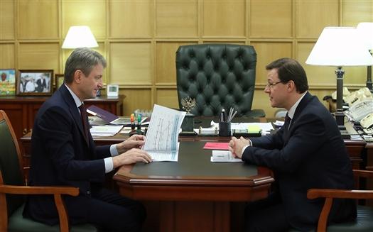 Дмитрий Азаров встретился с министром сельского хозяйства РФ Александром Ткачевым