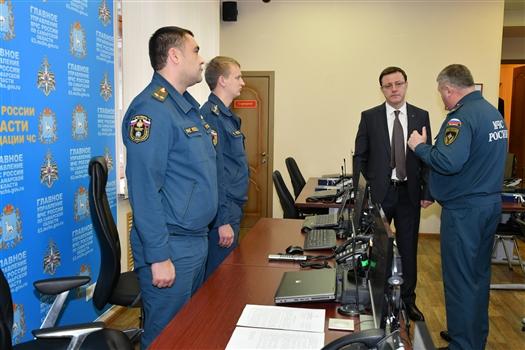 В День народного единства Дмитрий Азаров посетил ГУ МЧС по Самарской области