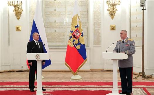 Генерал Мурадов доложил Владимиру Путину об успехах самарской общевойсковой армии