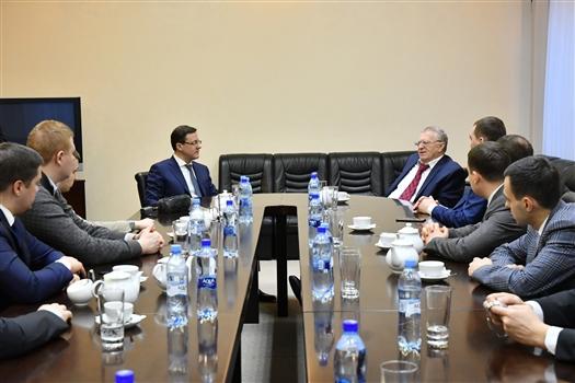 Дмитрий Азаров провел рабочую встречу с Владимиром Жириновским