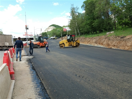 Ремонт Красноглинского шоссе вышел на финишную прямую