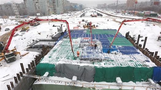 На Московском шоссе возведена последняя секция тоннеля под проспектом Кирова