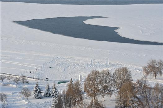 МЧС предупреждает об опасности выхода на тонкий лед