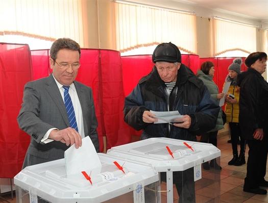 Глава Сызрани проголосовал на выборах президента РФ