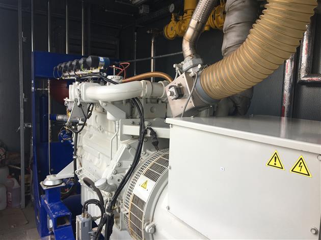 Генератор вырабатывает из биогаза электричество