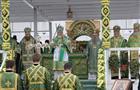 Патриарх Московский и всея Руси Кирилл проводит литургию в Дивееве