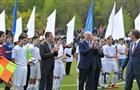"""Торжественная церемония открытия после капитальной реконструкции стадиона """"Нефтяник"""""""