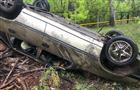 Двое детей пострадали в легковушке, съехавшей в кювет на мокрой дороге