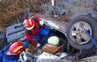 На трассе Самара-Бугуруслан погиб водитель Toyota, несколько раз перевернувшейся при съезде в кювет