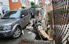 В Самаре на улице Алексея Толстого обвалилась подпорная стена