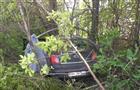 Водитель Datsun съехал с трассы М-5 в кусты