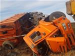 В Самарской области «КамАЗ» вылетел в кювет, пострадал водитель