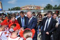 """Губернатор дал старт строительству новой школы в жилом районе """"Волгарь"""""""