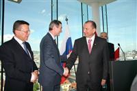 Губернатор Владимир Артяков и первый вице-премьер РФ Виктор Зубков в Австрии