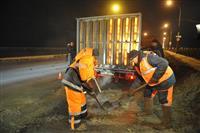 Ямочный ремонт Южного моста завершится к 9 февраля