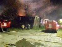 В центре Самары горел двухэтажный барак