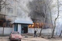 Пожар в многоэтажном доме на ул. Ново-Вокзальной в Самаре