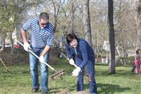 Депутаты самарской городской думы провели субботник в Струковском саду
