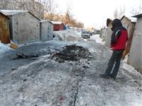Взрыв автомобиля в гаражном массиве на ул. Ташкентской