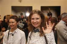 Художница Полина Горецкая, как всегда, с улыбкой