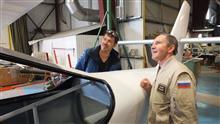 Французский линейный пилот, пилот гидроавиации Люик Блез и  Герой России, летчик-космонавт, летчик-испытатель Валерий Токарев