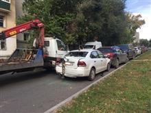 В Самаре эвакуатор повредил четыре машины