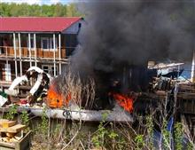 На пристани в районе ул. Белорусской взорвался катер