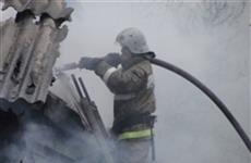 В Сызрани ликвидировали пожар в частном доме