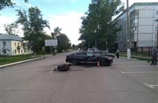 В Чапаевске в ДТП пострадал мотоциклист