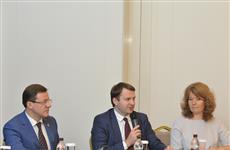 Максим Орешкин и Дмитрий Азаров приняли участие в обсуждении нацпроекта по повышению производительности труда