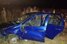 В Кинель-Черкасском районе авто опрокинулось в кювет, пострадал 70-летний водитель