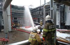 В Новокуйбышевске тушат пожар на заводе масел и присадок