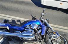 На Московском шоссе пострадал мотоциклист, столкнувшийся с легковушкой